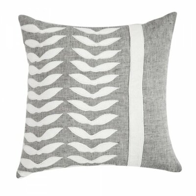 Applique Linen Throw Pillow