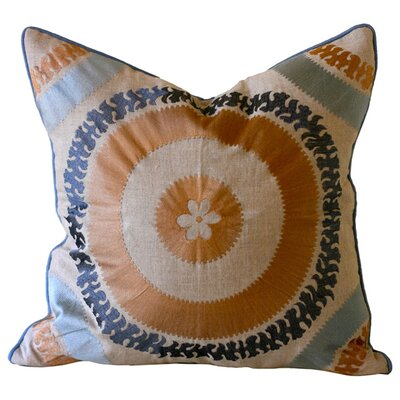 Ikat and Suzani All Suzani Linen Pillow Cover