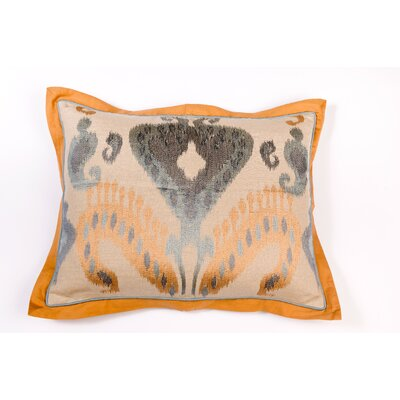 Ikat and Suzani All Ikat Linen Pillow Cover Color: Linen