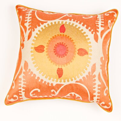 Ikat and Suzani All Suzani Linen Pillow Cover Color: Linen