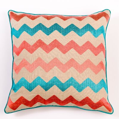 Ikat and Suzani All Chevron Linen Pillow Cover Color: Mixed