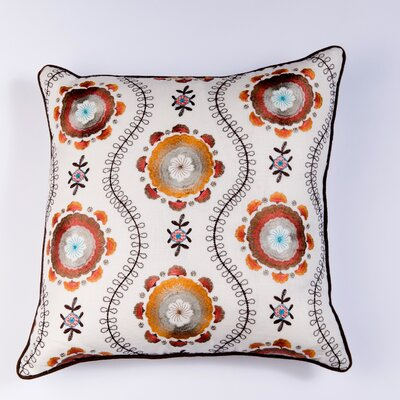 Ikat and Suzani All Klamkari Linen Pillow Cover