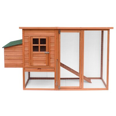 Large Wooden Chicken Coop with Nesting Box