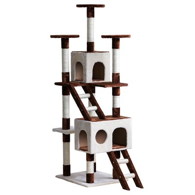 69 Unique Design Color-Matching Cat Tree with Condos and Scratching Post