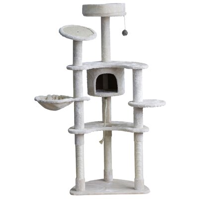 61 Cat Tree with Condo and Scratching Post