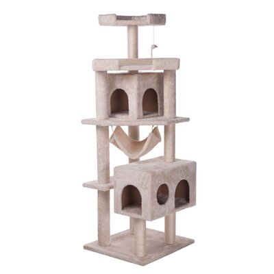 64 House Scratch Cat Tree and Condo