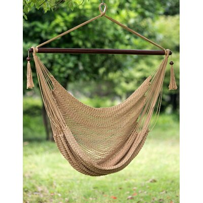 Polyester Chair Hammock Color: Brown