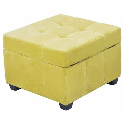 Upholstered Fabric Square Storage Ottoman