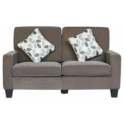 Luxurious Fabric Chesterfield Loveseat