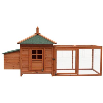 Wooden Chicken Coop with Nesting Room and Egg Box