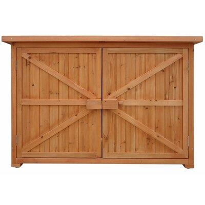 4.21 ft. W x 1.63 ft. D Wood Horizontal Tool Shed SH000016DAA