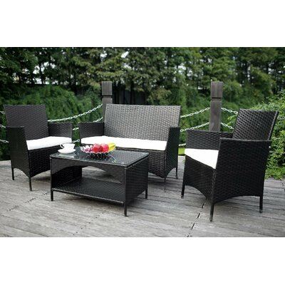Merax 4 Piece Deep Seating Group With Cushion