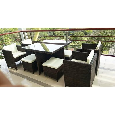 9 Piece Sectional Seating Group with Cushion