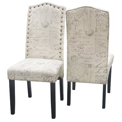 Script Fabric Side Chair