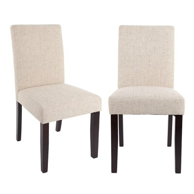 Classic Fabric Side Chair Upholstery: Beige