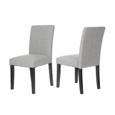 Classic Fabric Side Chair Upholstery: Gray