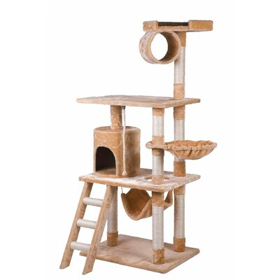 62 Activity Tree Tower Cat Trees and Condos Color: Beige