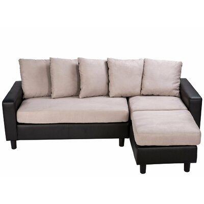 Contemporary Upholstered Reversible Sectional