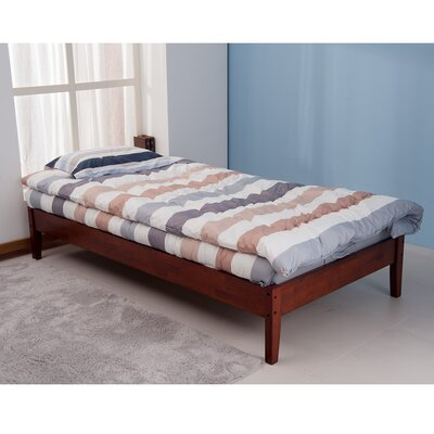 Platform Bed Color: Merlot, Size: Queen