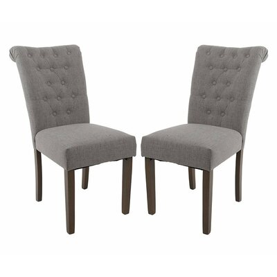 Luxurious Fabric Dining Parsons Chair Finish: Gray
