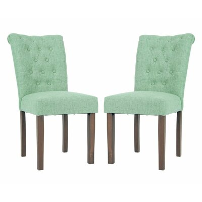 Luxurious Fabric Dining Parsons Chair Finish: Green