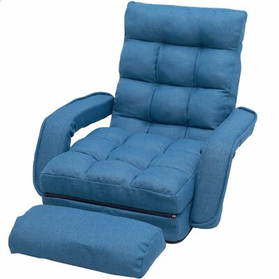 Folding Gaming Chair Upholstery: Blue
