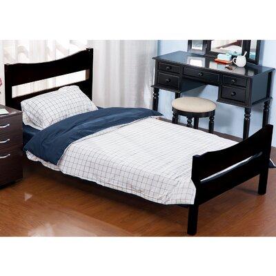 Twin Platform Panel Bed Color: Espresso