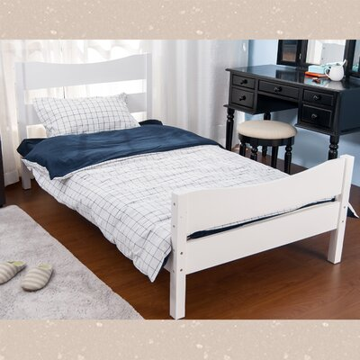 Twin Platform Panel Bed Color: White