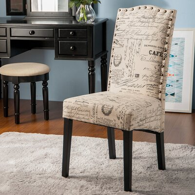 Script Fabric Side Chair