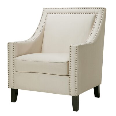 Trefethen Wood Accent Arm Chair Upholstery: Beige