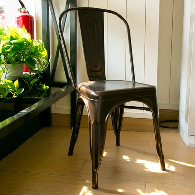 Lorenz Dining Chair Color: Antique Copper