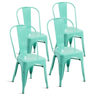 Lorenz Dining Chair Color: Bluish Green