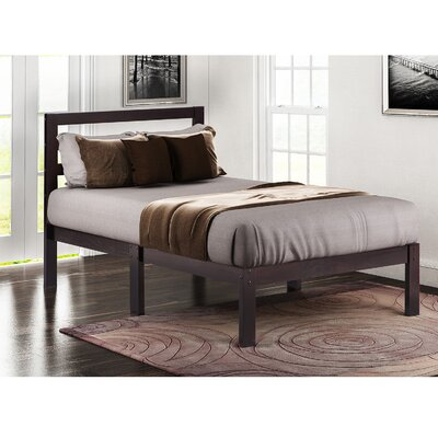 Charron Solid Twin Platform Bed Color: Walnut