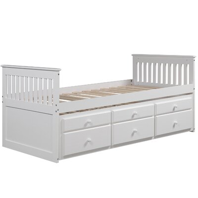 Tillie Captains Twin Storage Platform Bed Color: White