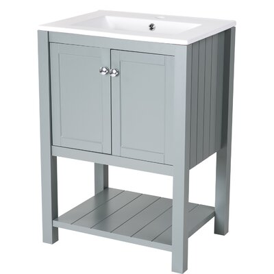 Jolicoeur 24 Single Bathroom Vanity Base Finish: Gray