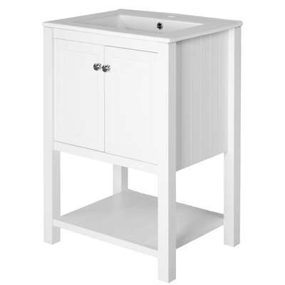 Jolicoeur 24 Single Bathroom Vanity Base Finish: White