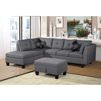 Burta Sectional with Ottoman