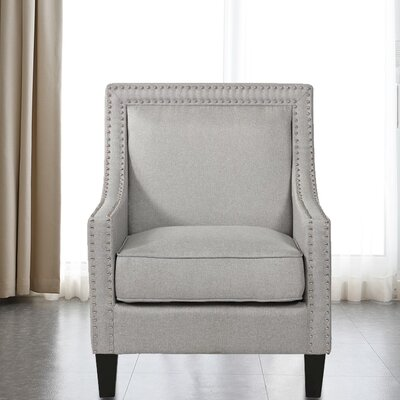 Lyn Solid Wood Armchair Upholstery: Gray