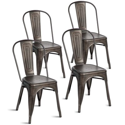 Kinnas Stacking Dining Chair Color: Rusty