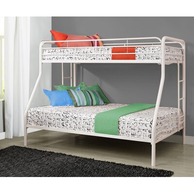 Glickman Twin Over Full Bunk Bed Bed Frame Color: White