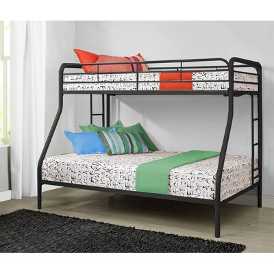 Glickman Twin Over Full Bunk Bed Bed Frame Color: Black