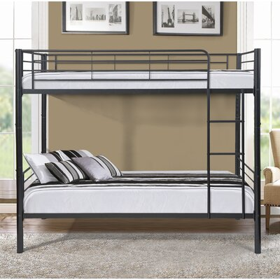 Gloucester Metal Twin over Twin Bunk Bed Bed Frame Color: Black