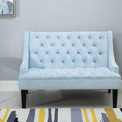 Loveseat Upholstery: Chenille Blue