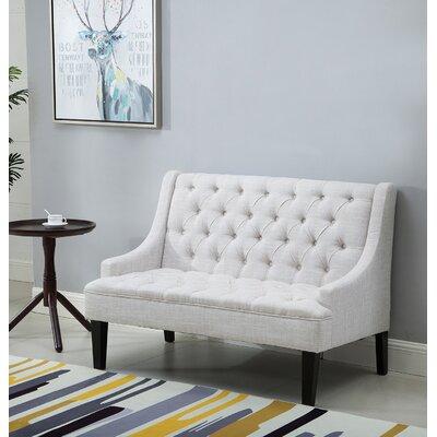 Loveseat Upholstery: Linen Beige