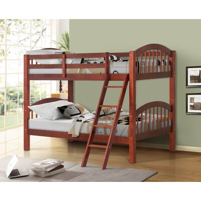 Twin Over Twin Bunk Bed Color: Oak