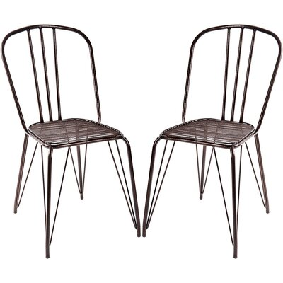 Pub Dining Chair Color: Bronze