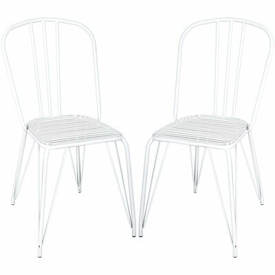 Pub Dining Chair Color: White