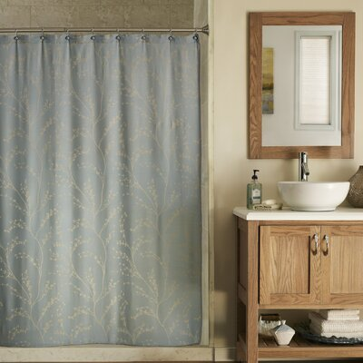Blossom Shower Curtain Color: Sea Glass