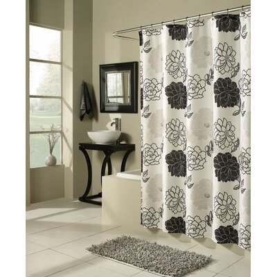 Summer Garden Microfiber Shower Curtain