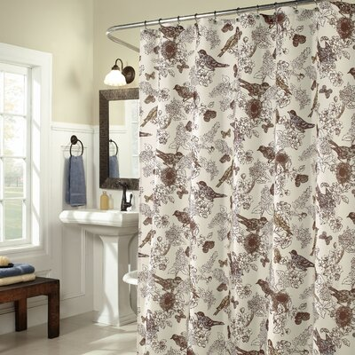 Buy Low Price M Style Birdwatcher Shower Curtain In Smoke